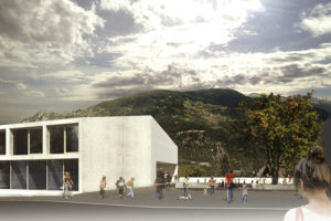 2014-Mijong architects Valais-Competition-School, Residential Complex, Shops and Parking-Vex-Switzerland