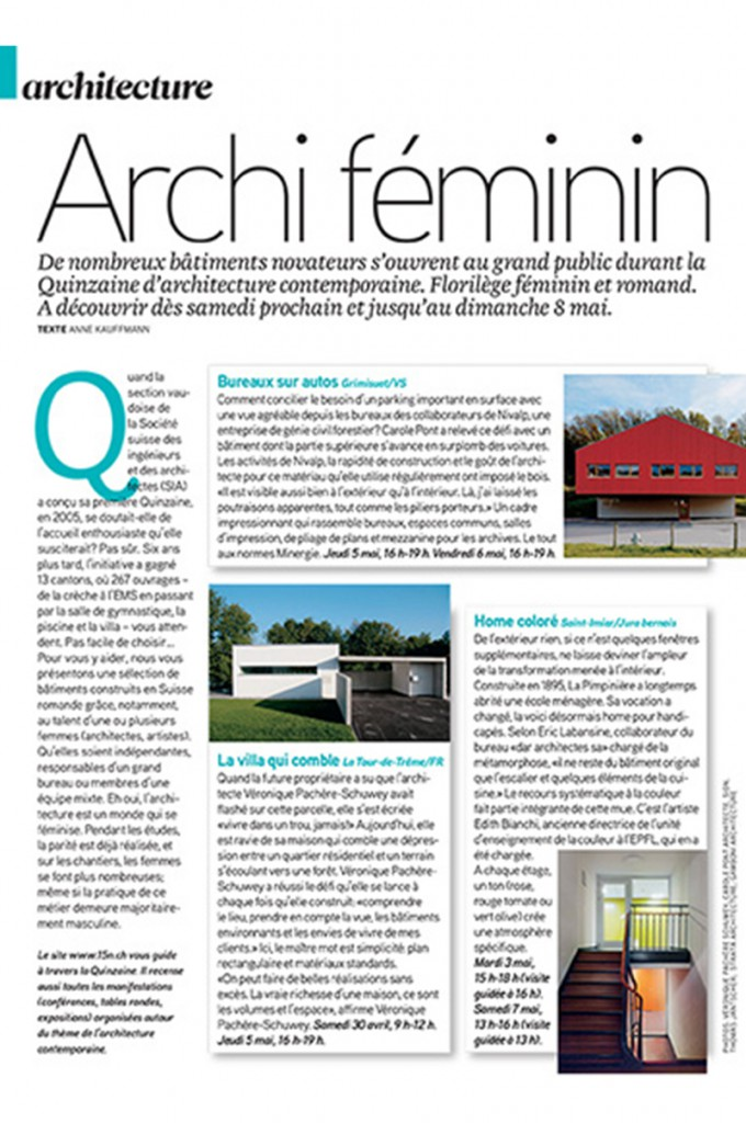 Mijong Architects Valais-Femina