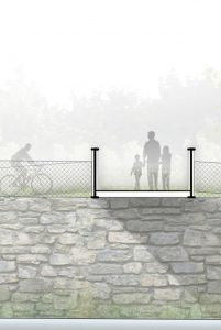 Mijong Architects Valais-Mosquito competition for the pedestrian bridge St - Leonard