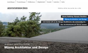 Mijong-Architekturforum Zürich-2016