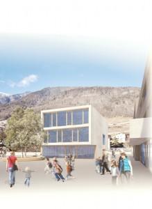 2014-Mijong Architects Valais-Competition-School-Martigny-Croix-Suisse